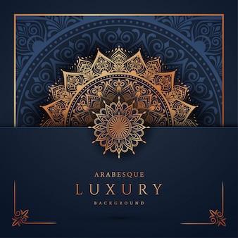 ゴールデンアラベスクアラビアイスラム東スタイルの豪華なマンダラ