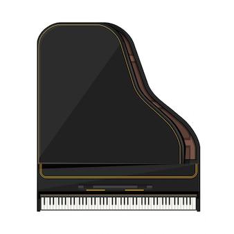 Иллюстрация рояля плоского стиля
