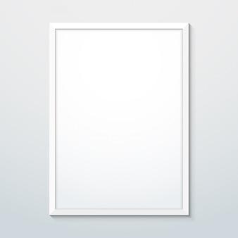 Вертикальная белая рамка макета