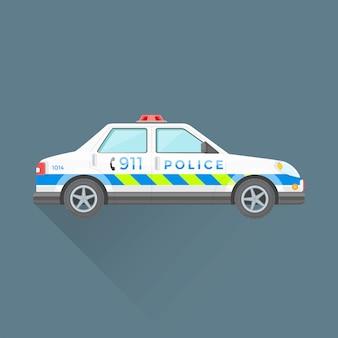 警察の緊急サービス車イラスト