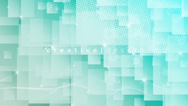白いトスカの正方形の背景。幾何学的なスタイル。モザイクグリッド