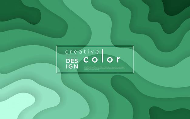紙のカットスタイルと抽象的な背景