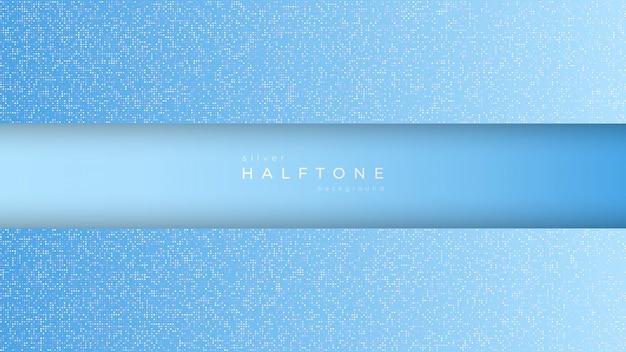 グラデーションハーフトーンデザインと水平フレームの背景