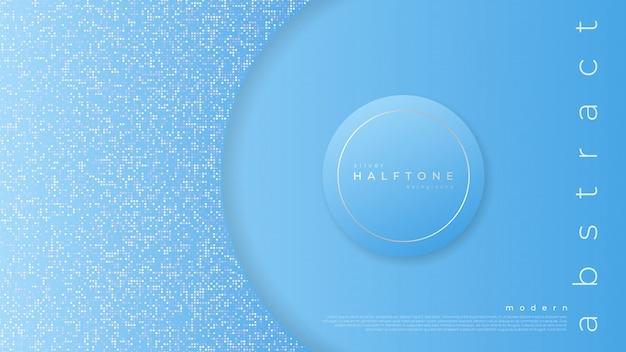 青の抽象的なグラデーションハーフトーンと背景