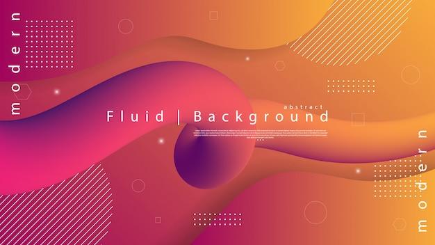 液体と波紙カット要素と抽象的な背景