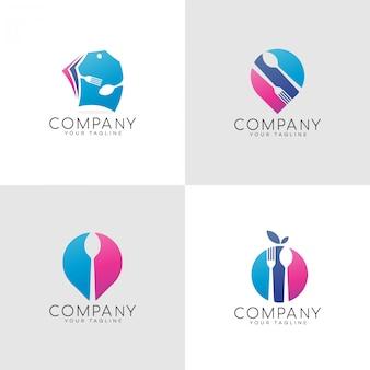 食品の色のロゴ