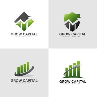 財務ロゴを成長させる