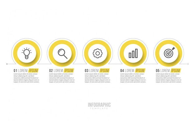 Минимальный бизнес инфографика шаблон