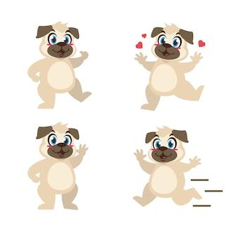 Мультфильм животных собака дизайн