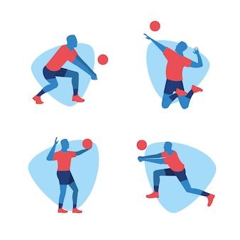 Волейболистка спортивного дизайна