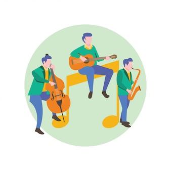 楽器と音楽プレーヤー