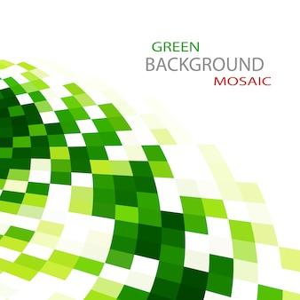 緑のモザイクの背景