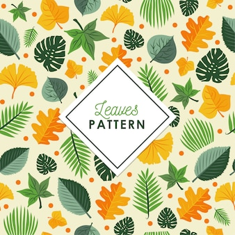 秋の葉のパターンの背景