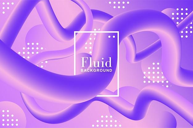 紫と紫の形をした流体の背景