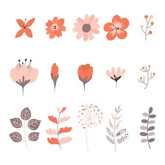装飾的な春の花の要素