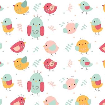 かわいい鳥のパターン