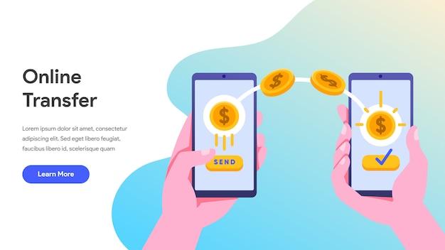携帯電話でのオンライン送金