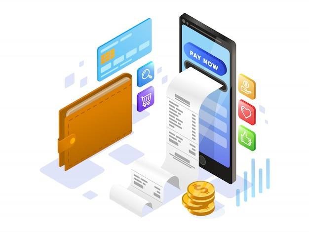携帯電話の等尺性によるオンライン支払い