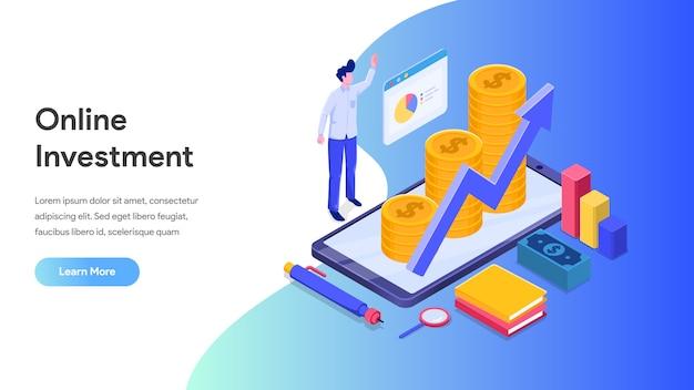 リンク先ページ、ウェブサイト、ホームページへの携帯電話によるオンライン投資
