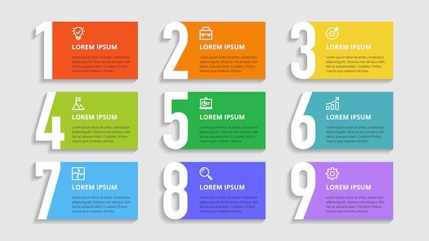 Числа инфографики для бизнес-вариантов, этапов, процессов