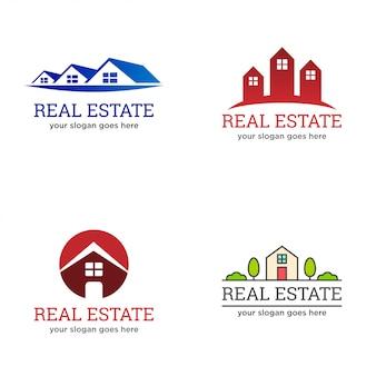 Недвижимость, агент по недвижимости, жилищный логотип