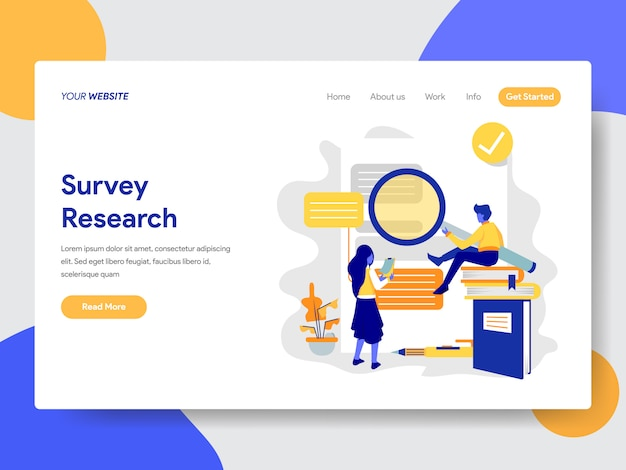 Иллюстрация исследования опроса для веб-страницы