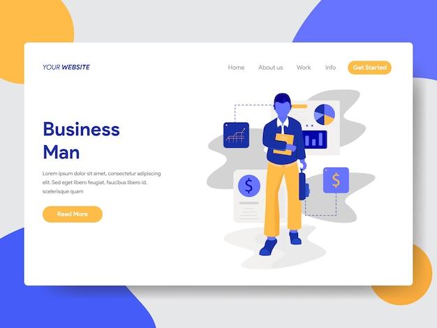 ウェブサイトページの実業家概念図