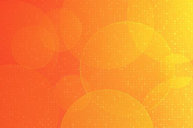 オレンジ色のモダンなデザインの幾何学的要素のベクトルの抽象的な背景