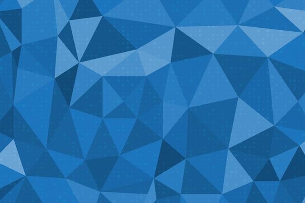 青の抽象的な多角形の背景