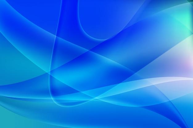 波のグラデーションカラーの抽象的なベクトルの背景