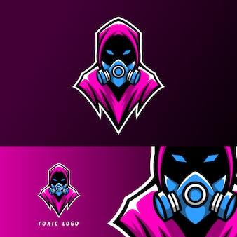 Токсичная маска дизайн логотипа спорт киберспорт