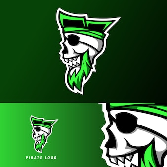 Повстанец пиратский игровой спорт киберспорт логотип шаблон с черепом