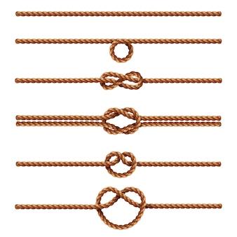 ロープセット分離された白