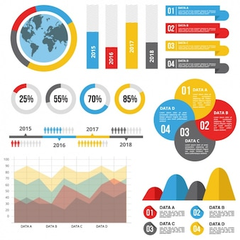 有効な統計情報を持つインフォグラフィックテンプレート