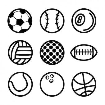 Коллекция спортивных мячей