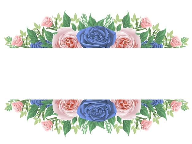 美しい花と花のフレーム