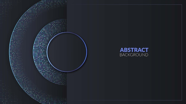 Современный синий круг с синим блеском абстрактного фона