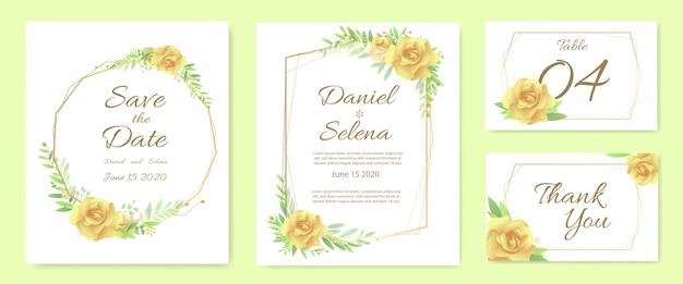 結婚式の招待カードのテンプレートセット