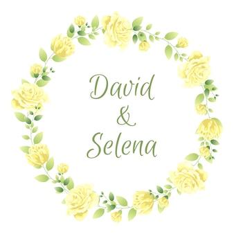 結婚式のための美しい花のフレーム
