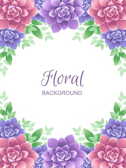 美しい花と花の背景