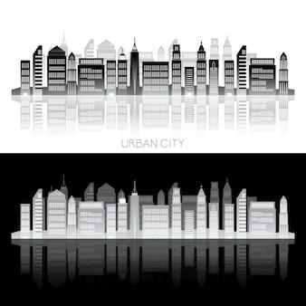 市のスカイラインのデザイン
