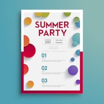 夏のパーティーのポスター