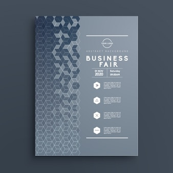 ブルービジネスパンフレットのテンプレート