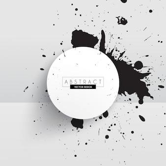 ブラックインク抽象的なデザイン