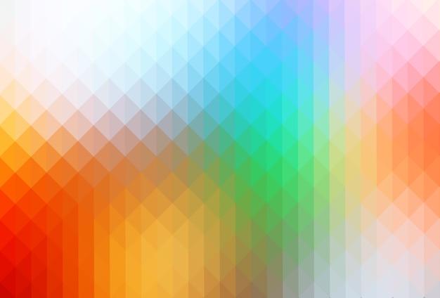 虹色の三角形の背景の行