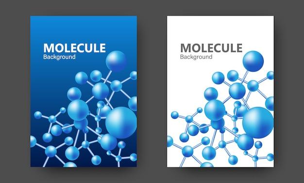 Абстрактный дизайн обложки с геометрическим соединением молекулы.