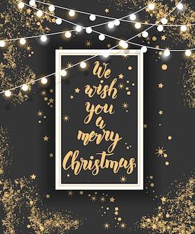 手描きのクリスマス手作りの引用とポスター