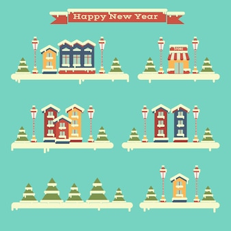 Зимний комплект домов