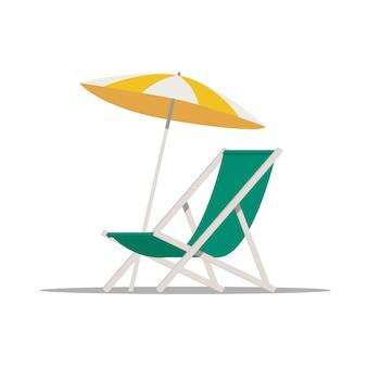 傘とビーチチェア