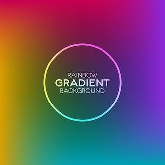 リング形状と虹のグラデーションの背景